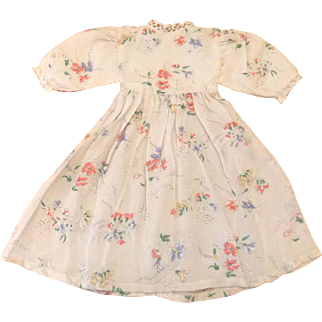 Doll's Pretty Print Crepe Dress in Fabulous Condition