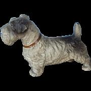 Adorable Vintage Painted Metal Terrier