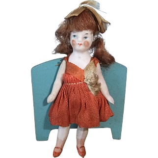 Tiny Bisque Doll with Pin Jointed Limbs