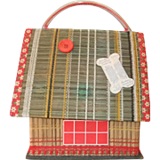 Cute Small Fifties Chalet Style Sewing Basket