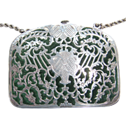Dainty 19th Century Silver Purse, Engraved 1858