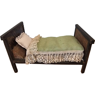 Empire Style Dolls' House Bed, German, Circa 1910-1920