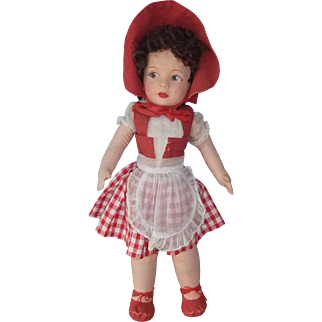 Pretty Chad Valley Cloth Doll, Circa Early 1950s