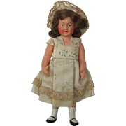 Gorgeous Miniature Celluloid Doll by Petitcollin of France