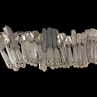 70-Piece Set International Sterling Royal Danish Flatware Service for 12