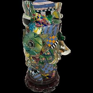 MacKenzie-Childs Glass Shard Hurricane Lamp