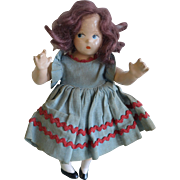 Tagged 1930's Madame Alexander Tiny Betty Composition Birthday Doll for Month of April