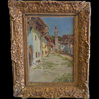 Egon Alexis Vietinghoff (1903-1994, Germany/ Switzerland) Original Oil on Panel