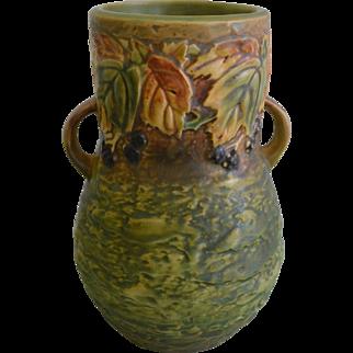 Roseville Pottery Blackberry Double Handled Vase