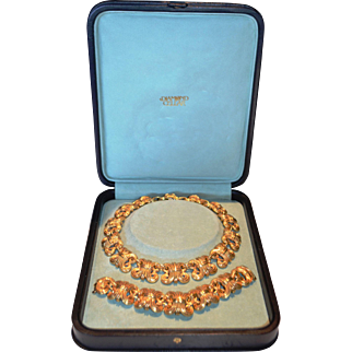 Steven Lagos 22k Yellow Gold Wheat Pattern Necklace and Bracelet Set