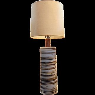 Incredible Mid-Century Large Scale Gordon Martz Vintage Ceramic Lamp