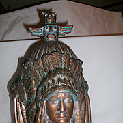 Ceremonial Native American Container. Removable lid for storage. Three Indian heads and 100% pottery. Beautiful piece.