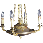 Lovely French Empire Style 4 Light Chandelier ,