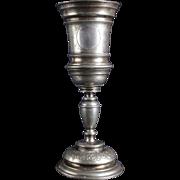 Lovely Dutch Antique Silvered Guild Beaker 1800s
