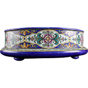 Wow a Rare And Large Antique French Majolica Faience Jardiniere Planter 1850s Signed JVB = Jules Vieillard Bordeaux