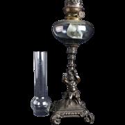 Lovely Large French Cherubs Oil Lamp