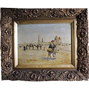 Lovely Oil Painting Desert Scene Signed by Steinhouwen or Steinhauer 1915