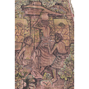 Ex Rare Antique Lovely Old Tribal Painting on Canvas Unkown Origin Oceania African