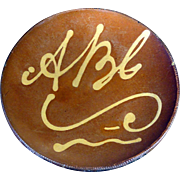 19th C. Redware ABC Slipware Charger