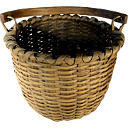 Small 19th C. Fine Swing Handle Basket