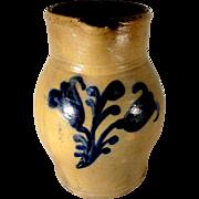 19th C. Blue Decorated Haddonfield, New Jersey Stoneware