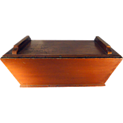 19th C. Tabletop Dovetailed Dough Box in Old Paint