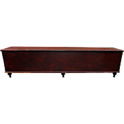 7' Long Pennsylvania Wood Box in Original Deep Red Paint