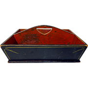 19th C. Paint Decorated Canted-Side Carrier