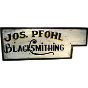 19th C. Blacksmith Trade Sign in Original Paint