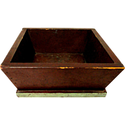 19th C. Primitive Pine Apple box in Original Paint
