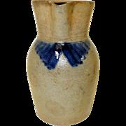 19th c. Blue Decorated Philadephia Stoneware Pitcher