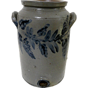 19th C. Blue Decorated Remmey Stoneware Cooler