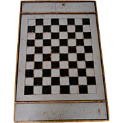 Carved 19th C. Gameboard in Original Old Paint
