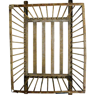 Early 19th C. New England Windsor Cheese Basket with Make-do Repairs