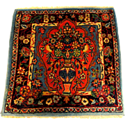 Fine Semi-Antique Oriental Prayer Rug with Flower Urn