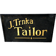 Classic Late 19th C. Two-Sided Tailors Sign