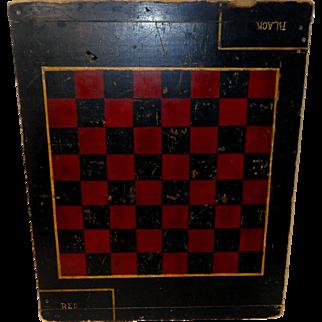 Early 1900's Original Folk Art Checkerboard / Gameboard
