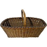 19th C. Signed Gathering Basket