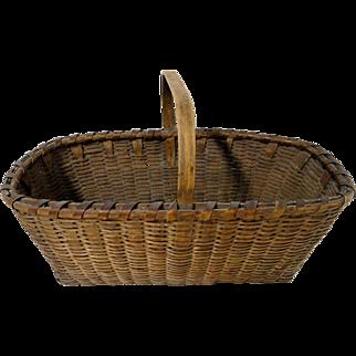 19th C. Signed Gathering Basket