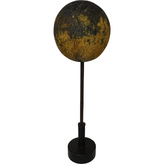 19th C. Wooden Flagpole or Weathervane Topper in Old Paint