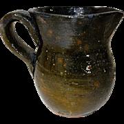 Small 19th C. Redware Cream Pitcher