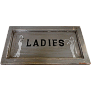 1920's Deco Wooden Ladies Room Sign