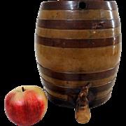 Small 19th C. Stoneware Barrel Shaped Keg