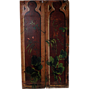 Pair of 19th C. Hand Painted Panels