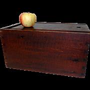 19th C. Slide Lid Candle Box w/ Original Paint Decoration