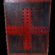 Early 1900's Folk Art Marble Gameboard