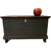 19th C. Miniature Blanket Chest in Old Paint
