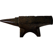 Old Solid Bronze Watchmaker's or Jeweler's Anvil