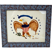 Vintage Patriotic Eagle William Rank Theorem on Velvet