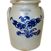 19th C. Norton Blue Decorated Stoneware Bennington, VT.